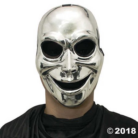 Silver Halloween Sinister Ghost Mask - Bar Sinister Halloween