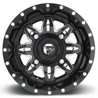 Fuel Lethal 14x7 ATV/UTV Wheel - Matte Black (4/156) 4+3 [D5671470A544]