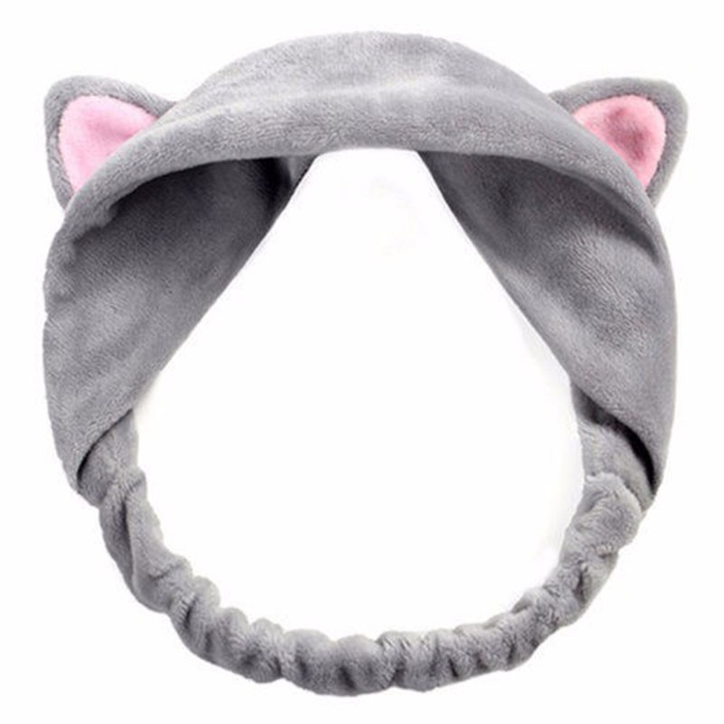 Details about  /Women Winter Cute Ears Shape Hairband High Stretch Soft Plush Headband Healthy