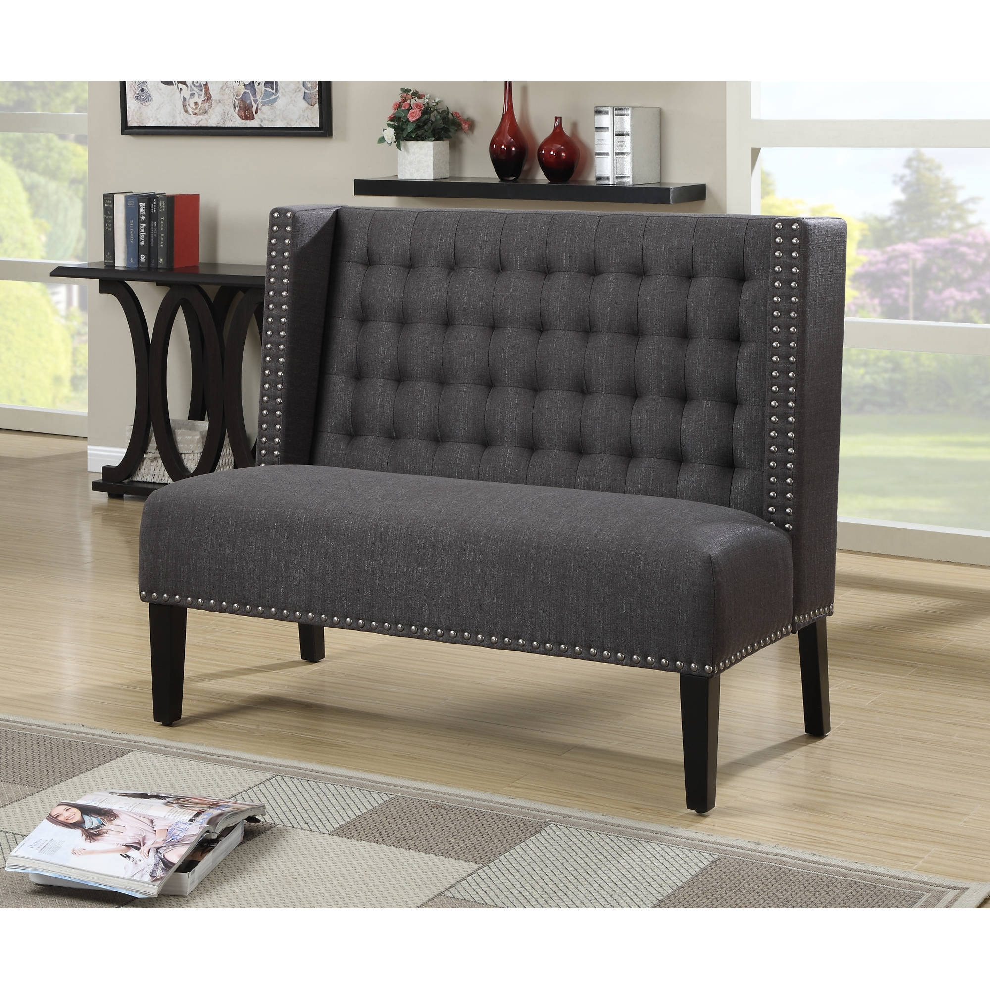 Home Meridian Banquette Bench