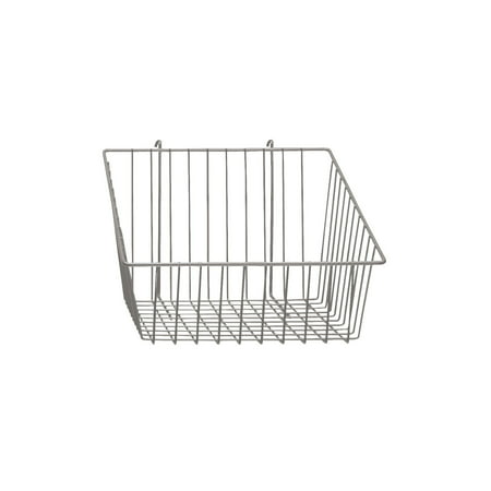 Chrome Mini Wire Grid Basket for Wire Grid with 4 inch Slanted Front Lip - 12