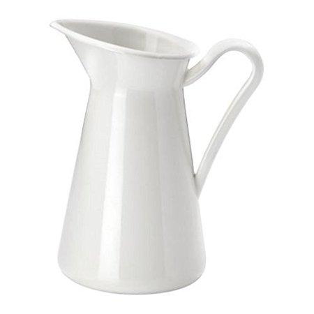 Enamel House (Steel Enamel Farmhouse Pitcher Vase. White (6 Inch) )
