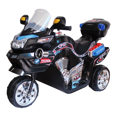 Ride on Toy, 3 Wheel Motorcycle for Kids, Battery Powered Ride On Toy by Lilâ Rider â Ride on Toys for Boys and Girls, 2 - 5 Year Old - Black FX