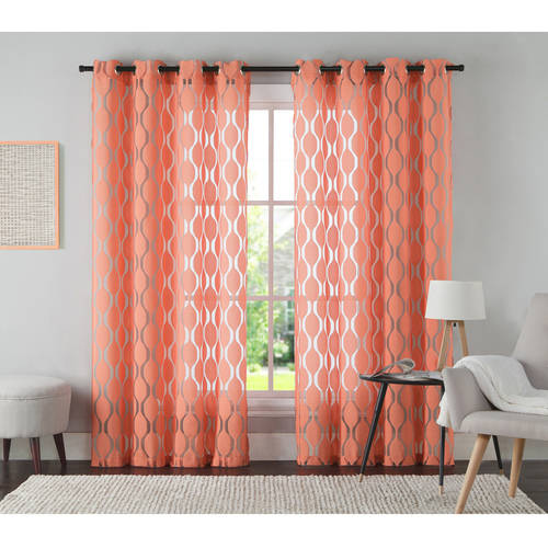 VCNY Home Aria Jacquard Grommet Top Window Curtain Panel, Multiple Colors and Sizes by VCNY Home