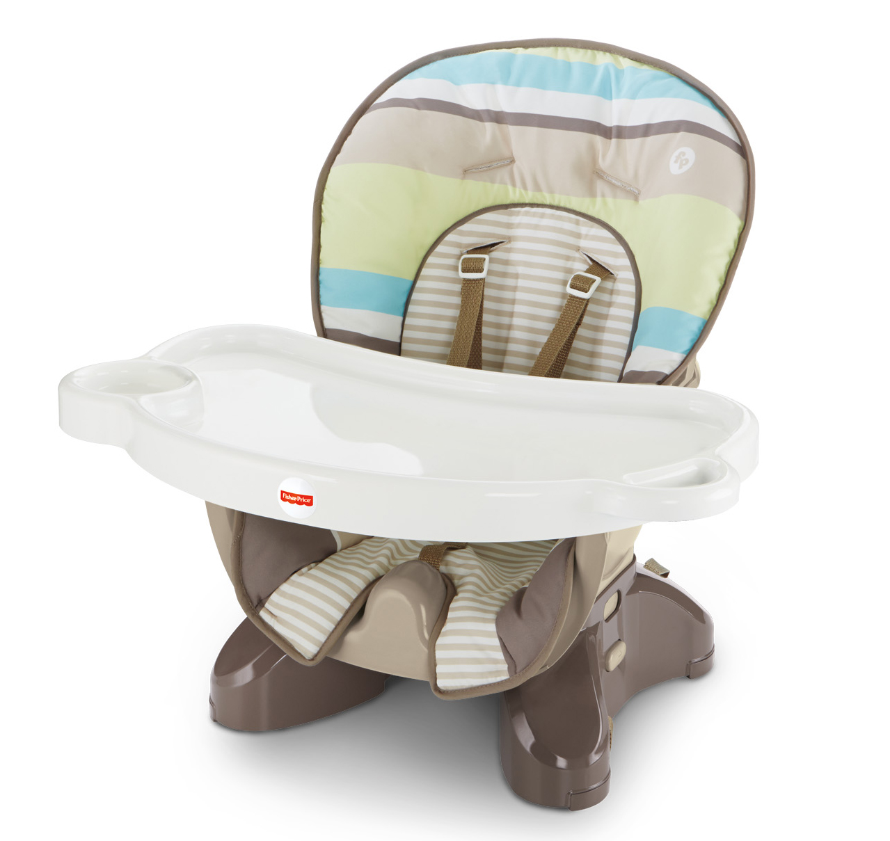 Fisher-Price SpaceSaver High Chair, Green Stripes