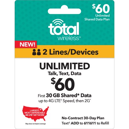 Total Wireless $60 Unlimited Family Plan (Email (Best Wireless Plans For 2)
