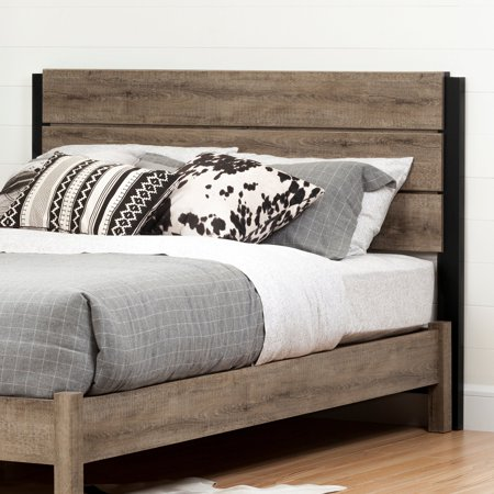 south shore munich full queen headboard weathered oak. Black Bedroom Furniture Sets. Home Design Ideas