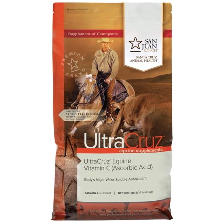 UltraCruz Equine Vitamin C (Ascorbic Acid) Supplement for Horses, 10 lb, Pellet (80 Day Supply) Horse Vitamin Supplement