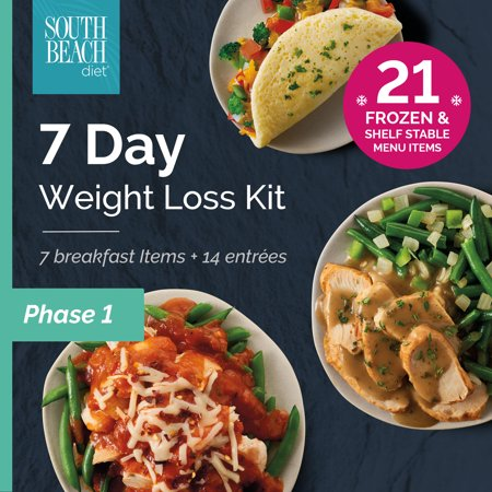 South Beach Diet Phase 1 Frozen + Ready-to-go 7-Day Weight Loss Kit, 21