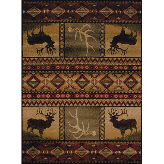 United Weavers 750 03843 912 7 ft. 10 in. x 10 ft. 6 in. Affinity Hunters Dream Oversize Rug, Lodge - image 1 de 1