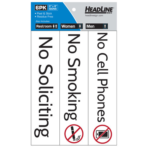 HeadLine Business Signs, 6 pk