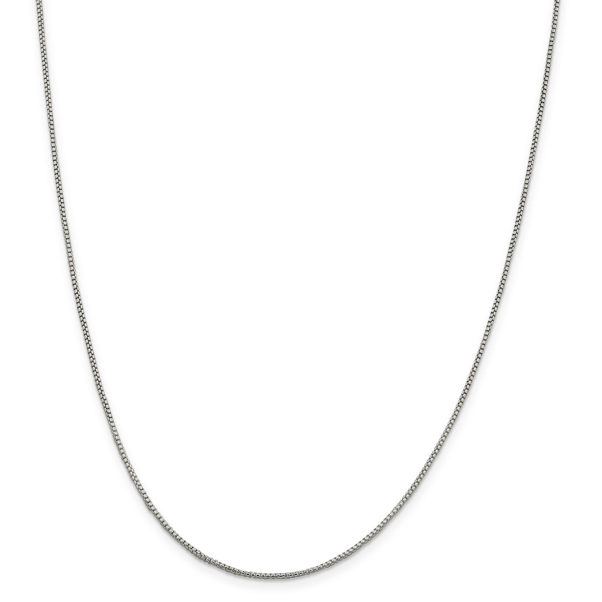 925 Sterling Silver 1.25mm Round Link Box Chain Necklace 24 Inch Pendant Charm Fine Jewelry Gifts For Women For Her - image 9 of 9