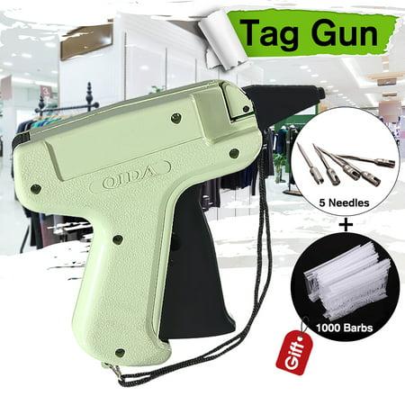 - Clothes Regular Garment Price Label Tagging Tag Gun + 5 Needle + 1000 Barbs Pins Kit