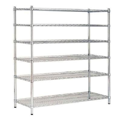 HDX 48 in. W x 72 in. H x 18 in. D Decorative Wire Chrome Finish Commercial Shelving Unit