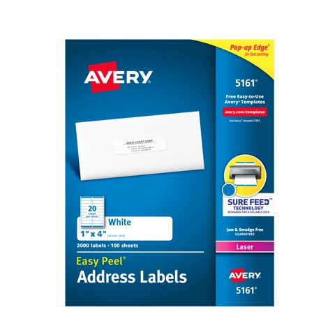 White Easy Peel(R) Address Labels with Sure Feed(TM) - Laser, 1