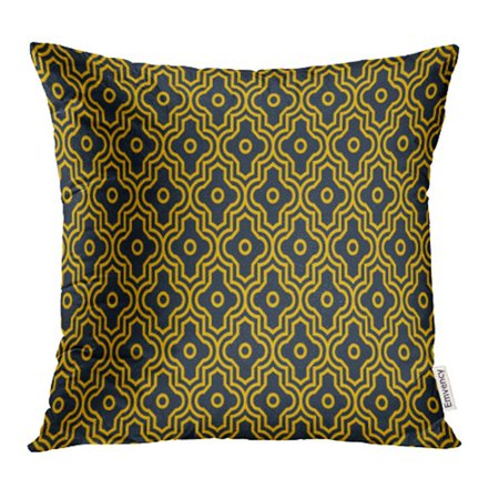 YWOTA Abstract Neon Orange Enhanced Moroccan Pattern Antique Architecture Pillow Cases Cushion Cover 18x18 (Best Lens For Architecture Nikon)