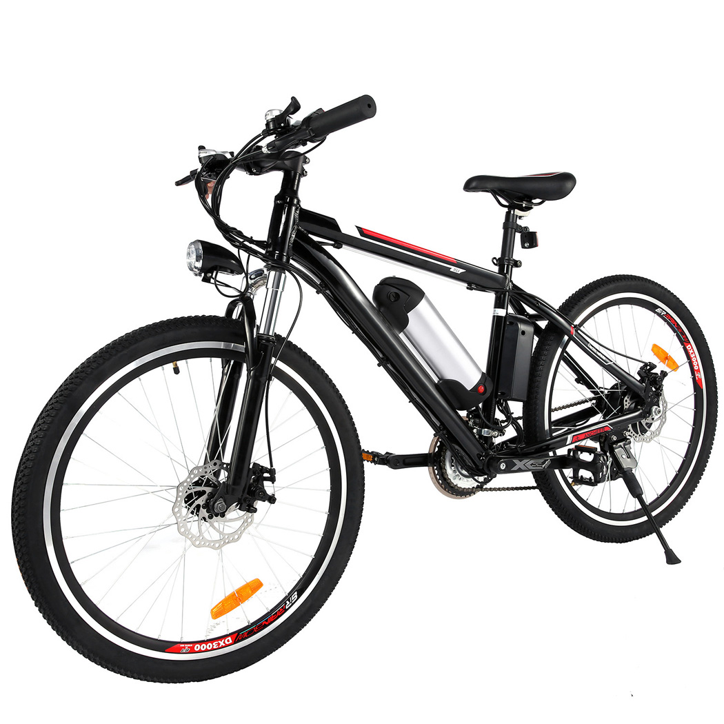 25 inch Electric Mountain Bike with 36V, 8AH Removable Lithium-Ion Battery 250W Electric Bike for Adults with Battery Charger