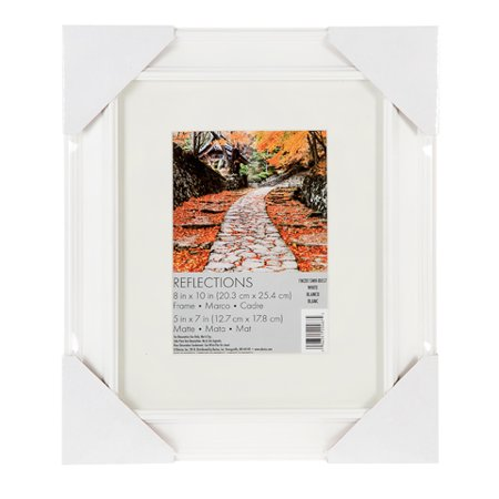Darice Beveled Edge Picture Frame: White, 5 x 7 inches
