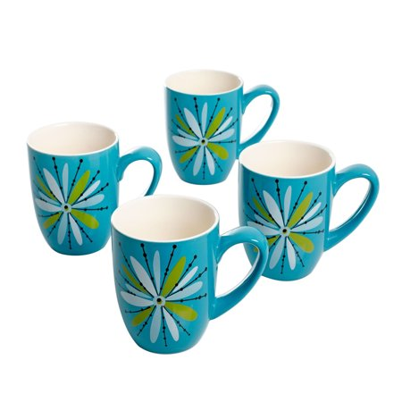 Studio California Nordic Cool Anza 4 Piece 16 oz. Mug Set in Turquoise (Mug California)
