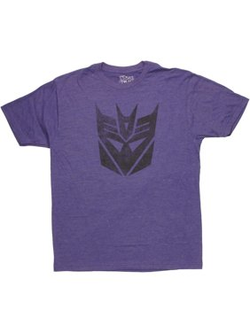 Transformers Decepticon Logo Stencil T Shirt Sheer