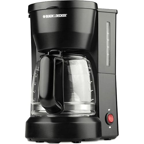 Black & Decker 5-cup Coffeemaker, Black