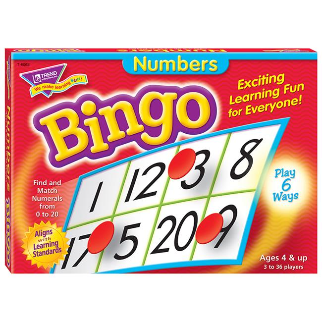 Trend Enterprises T-6068BN 3 Each Numbers Bingo Game - Ages 4 & Up - image 1 of 1
