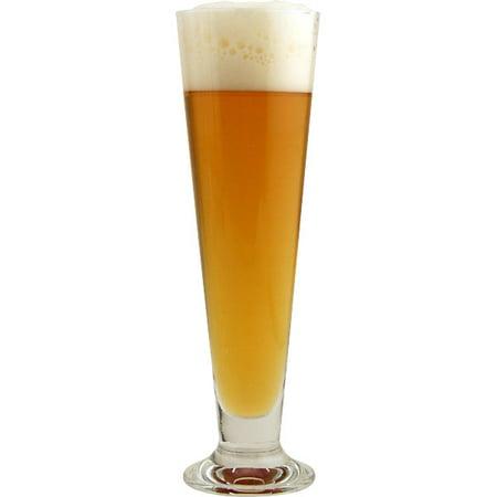 Bormioli Rocco Glass Pilsner Glass - Bormioli Rocco Palladio Footed Pilsner Beer Glasses - 13 oz - Set of 6