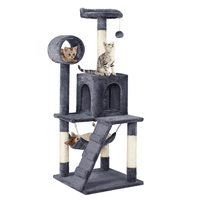 "51"" Cat Tree Condo with Hammock Scratching Post"