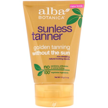 Alba Botanica Sunless Tanning Lotion SPF15 4 Ounce, Pack of 2 Alba Botanica Sunless Tanning Lotion