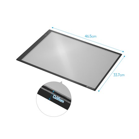 FLEIZ A3B LED Light Box USB Powered Copyboard with 3-Level Adjustable Brightness Black Edge Scale Light Pad for Painting Tracing Animation Sketching Stencilling X-Ray Viewing - image 7 of 7