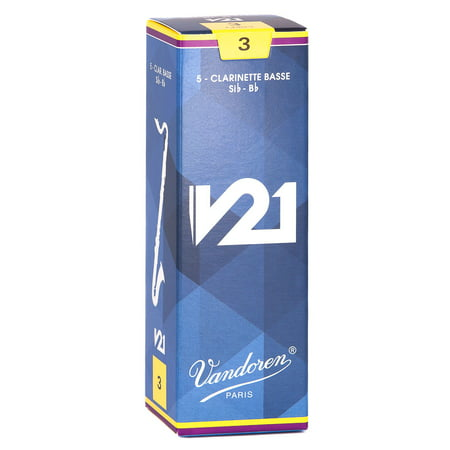vandoren bass clarinet v21 reeds strength 3 box of 10. Black Bedroom Furniture Sets. Home Design Ideas