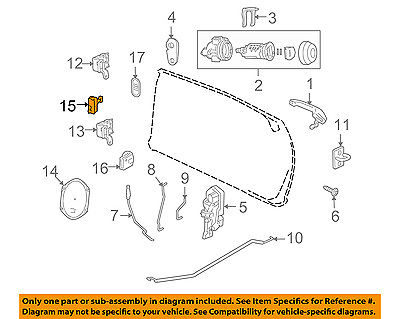 chrysler oem 05 08 pt cruiser front door hinge check 5067252ab 2008 Lincoln MKX Engine Diagram