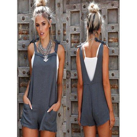 a5a6c2c75d7e Mosunx Women Straps Jumpsuits Overalls Shorts Pants Romper Trousers  Playsuits - Walmart.com