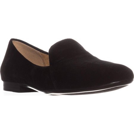 Black Classic Slip On (Womens naturalizer Emiline Classic Slip On Loafers, Black)