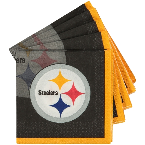 Pittsburgh Steelers 16-Pack Beverage Napkins - No Size