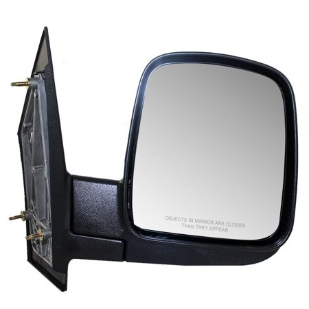 Passengers Manual Side View Mirror Textured Replacement for Chevrolet GMC Van 15937996, Brand new aftermarket replacement By AUTOANDART Aftermarket Side View Mirrors