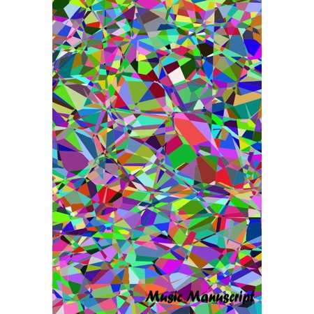 Sheet Music Staff Paper - Music Manuscript Paper: Mosaic Art Colorful Book, Blank Sheet Music Book, Guitar Tab, Musicians Lyrics Notebook, Music Manuscript Paper, Staff Paper, Song Writing Journal, Lined/Ruled Paper, Songwriti