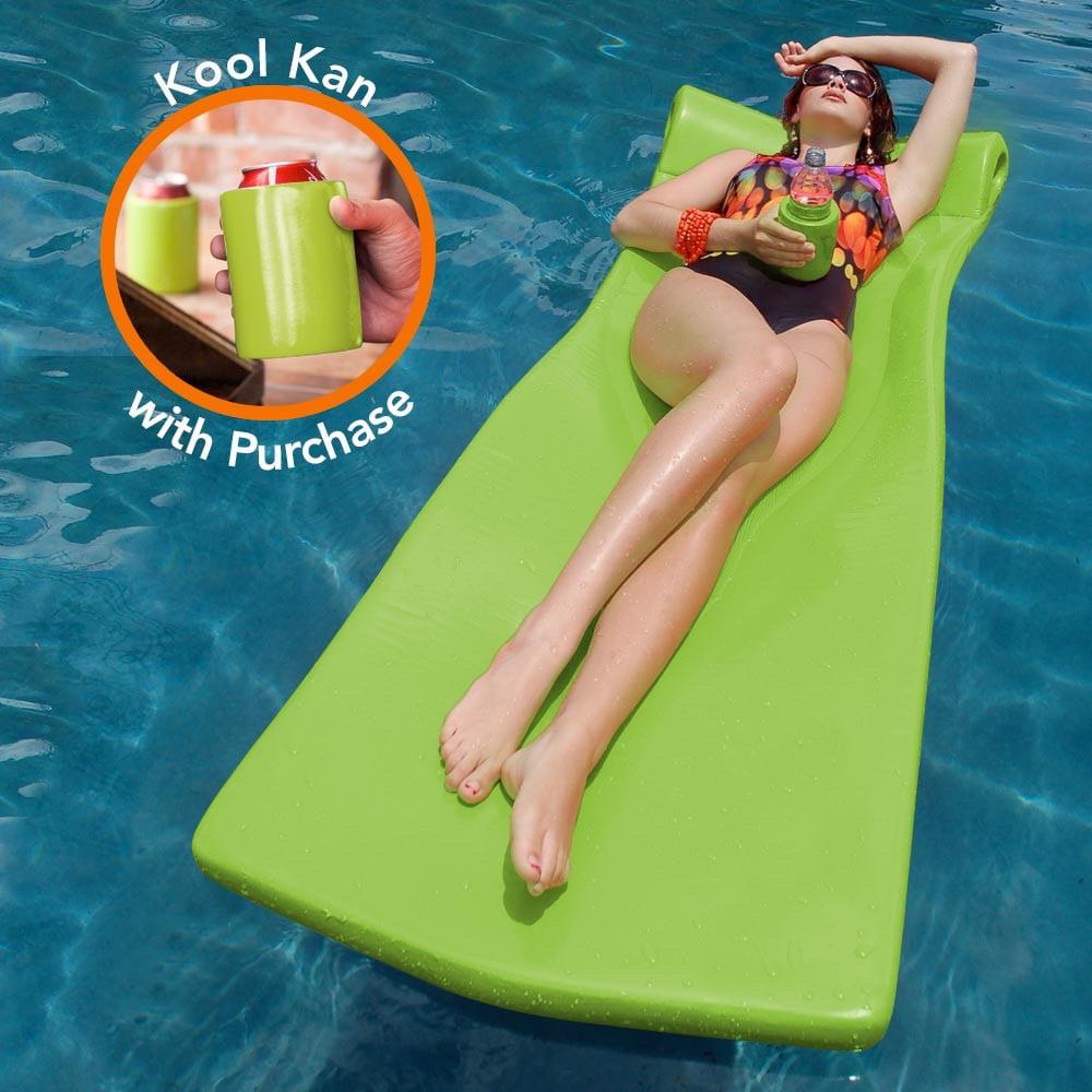 Pool Mate XX-Large Foam Mattress Swimming Pool Float with bonus Kool ...