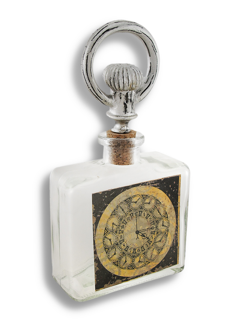 Decorative Steampunk Glass Bottle and Stopper by Zeckos