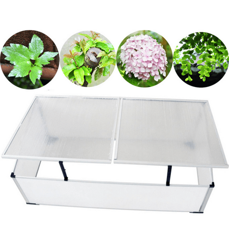 Garden Greenhouse Polycarbonate Cold Frame - 2 Lids