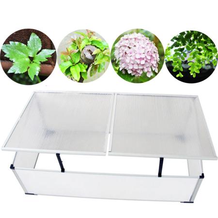 Garden Greenhouse Polycarbonate Cold Frame - 2 Lids - Walmart.com
