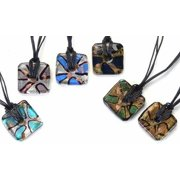 KA-4065Z Bella Arte Square Necklace Pendant, Set of 12, 18 in.