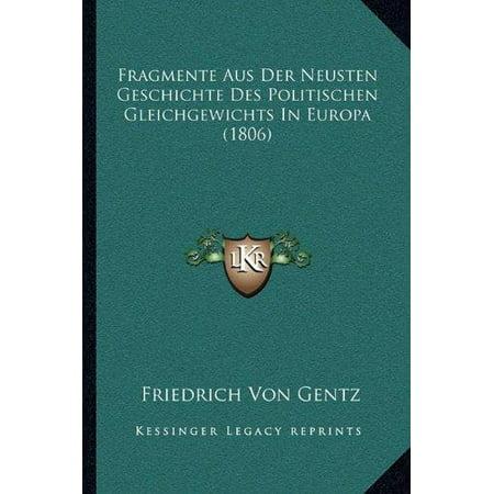 Fragmente Aus Der Neusten Geschichte Des Politischen Gleichgewichts in Europa (1806) - image 1 de 1