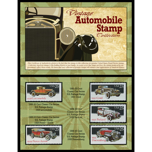 American Coin Treasures Vintage Automobile Stamp Memorabilia