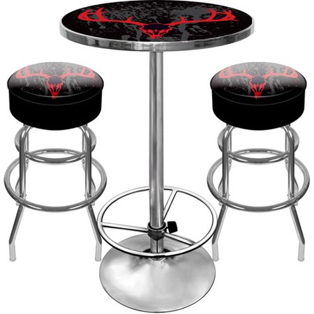 Gameroom Set (Hunt Skull Gameroom Combo - 2 Bar Stools and Table)