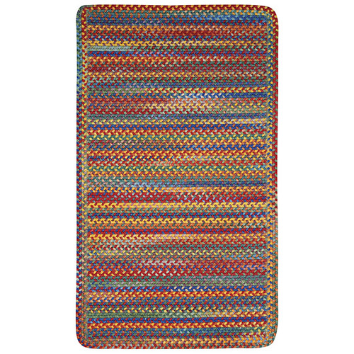 Capel Kill Devil Hill 0210XS Braided Rug - Bright Multi