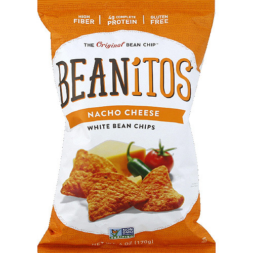 Beanitos Nacho Cheese White Bean Chips, 6 oz, (Pack of 6)