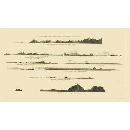 Old Topographical Map Print - Alaska Alaska - Nicol 1785 - 23 x ...