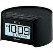iHome IBT230SSC Bluetooth Bedside Dual Alarm Clock Radio with Speakerphone, White