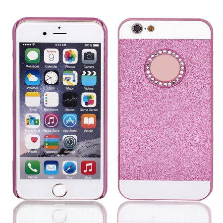 Hard Plastic Skin Case Bumper Cover Fuchsia for Apple iPhone 6 Plus